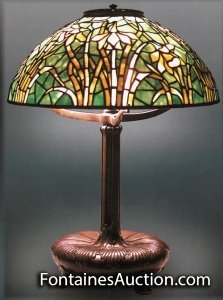 Tiffany Daffodil Table Lamp by Tiffany Studios NY