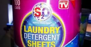 S2O is a pre-moistened, biodegradable, all-in-one laundry sheet Review