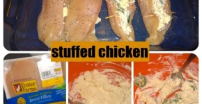 Cream Cheese, Feta, Jalapeno, Stuffed Chicken