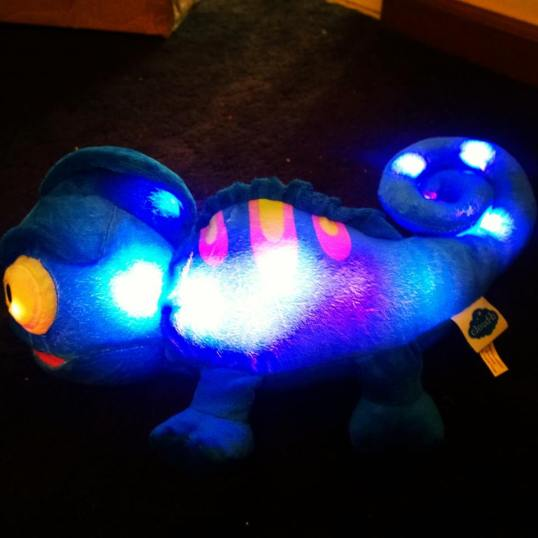 Glowing and Singing lizard