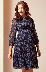 Muriel Maternity Dress Ditsy Blue Pink
