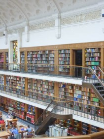 NSW State Library Reading Room lined with books from floor to ceiling