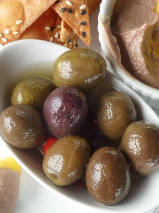 Bowl of olives. Queensland Food Festivals give you a chance to get out & taste the local produce.