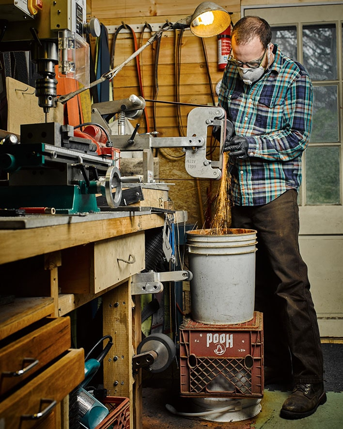 Personal Work: Cape Cod Custom knife maker Sam Densmore