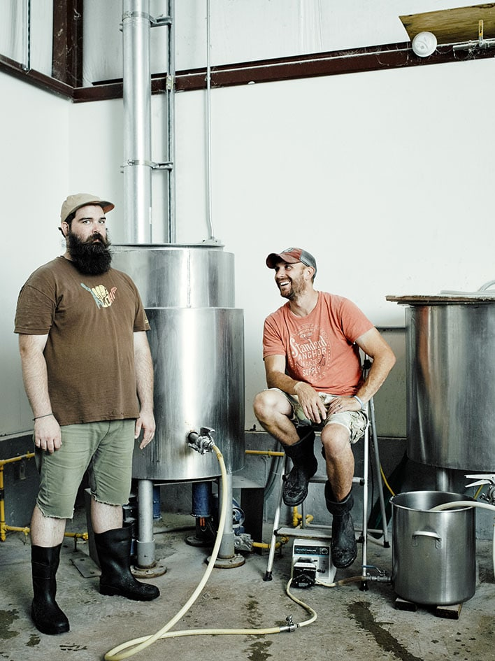 Personal Work: Lowell Massachusetts Brewers Mike and PJ at their Navigation Brewing Company