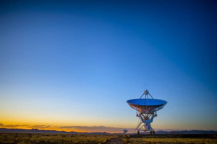 Satellite Dish In The Desert