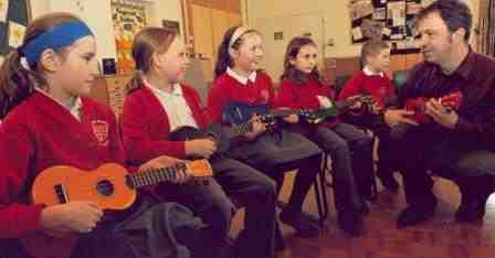 Tigard Ukes Partners with Portland Homeless Family Solutions to Teach Music to Kids