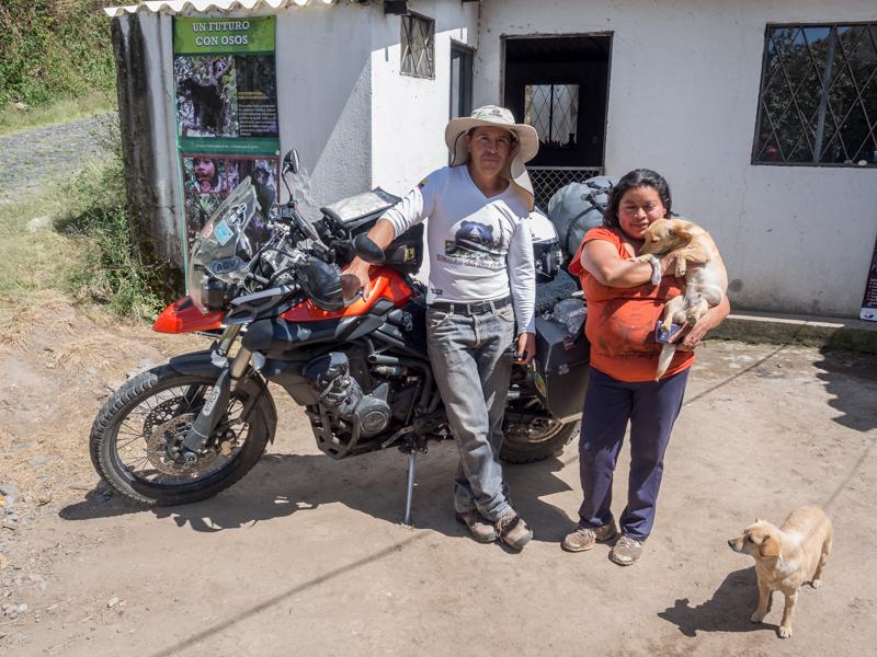 Ecuador San Juan Triumph Tiger 800XC RTW motorcycle adventure