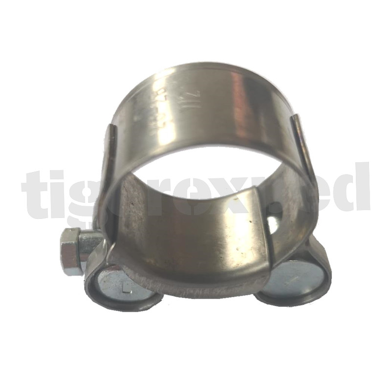 strengthened clamp for exhaust pipe for diameter o 26 28 mm w2 stainless steel