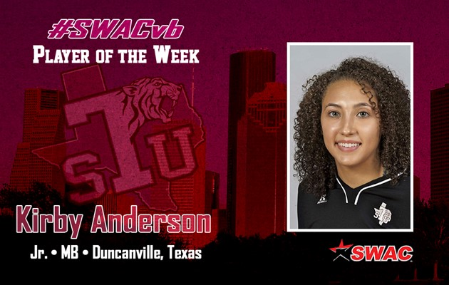 Anderson takes two of the four SWAC weekly awards