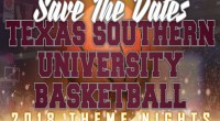 Texas Southern Athletics will host theme nights during the Tigers and Lady Tigers last four basketball regular season games …read more Related posts: Lady Tigers win 64-58 in Puerto Rico […]
