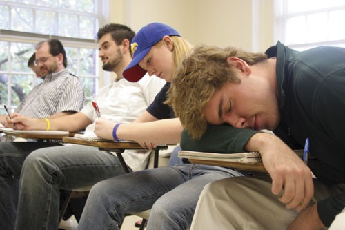 Image result for person asleep in classroom