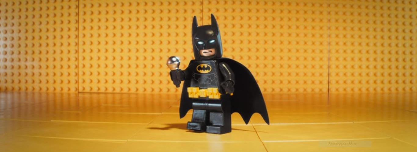 Lego Batman with mic