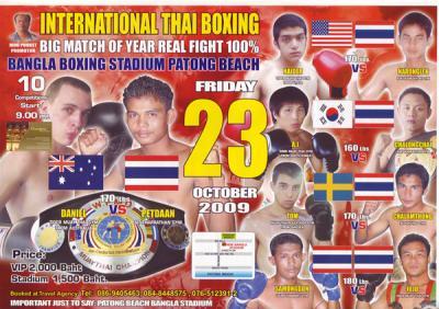 tiger muay thai fight posters phuket