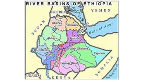 New administrative map of Ethiopia based on river basins