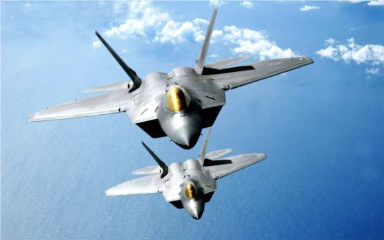 F-22 stealth Raptors