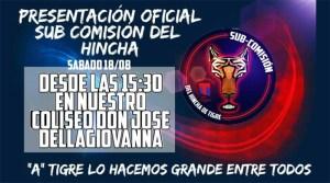 Presentación formal de la Subcomisión del Hincha del Club Atlético Tigre