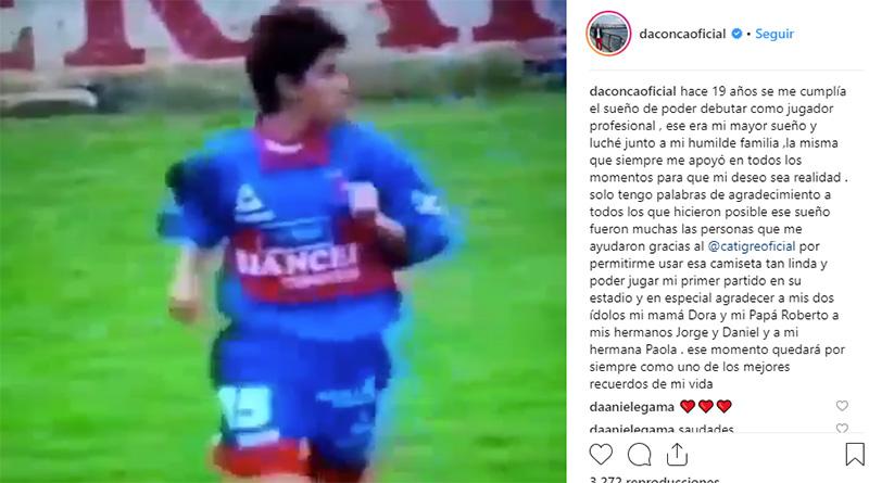 El agradecimiento de Darío Conca a 19 años de su debut
