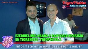 Ezequiel Melaraña y Santiago Aparicio con Tigrenses