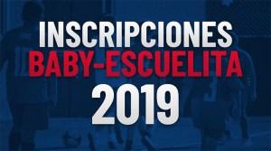 Próximo lanzamiento del Baby Fútbol y Escuelita
