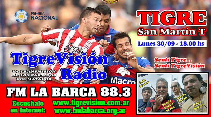 Tigre recibe al Santo Tucumano con la necesidad imperiosa de ganar