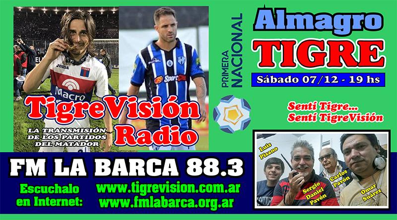 Tigre juega el postergado ante Almagro