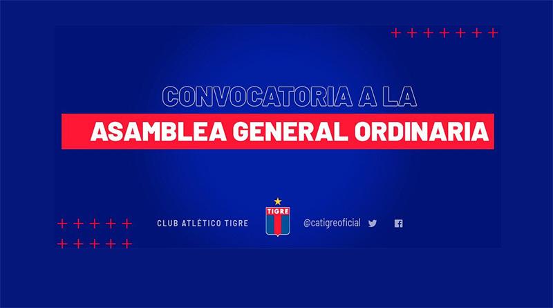 CONVOCATORIA A LA ASAMBLEA GENERAL ORDINARIA – 20/12