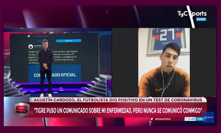 "Agustín Cardozo: ""Tigre puso un comunicado sobre mi enfermedad, pero nunca se comunicó conmigo"""