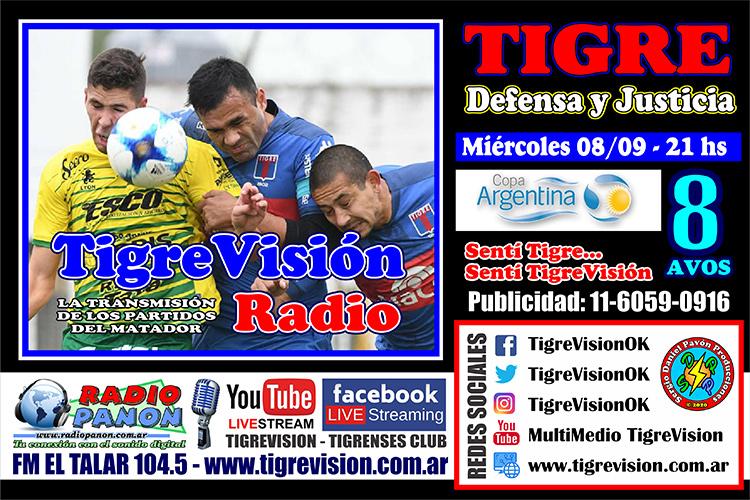 Tigre busca avanzar en la Copa Argentina ante Defensa