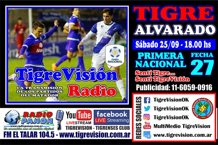 Tigre recibe a Alvarado
