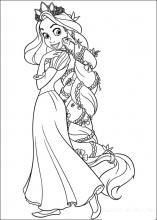 Planse De Colorat Cu Rapunzel Tigrisorro