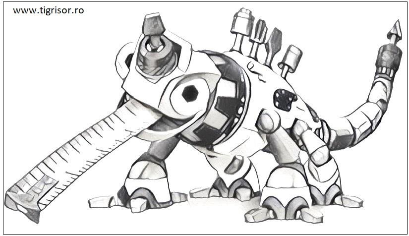 Plansa De Colorat Cu Dinotrux Plansa 08 Tigrisorro