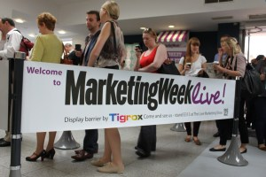 Marketing Week Live! 2012 uses Tigrox to manage their visitor footfall.