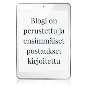 Blogi on perustettu