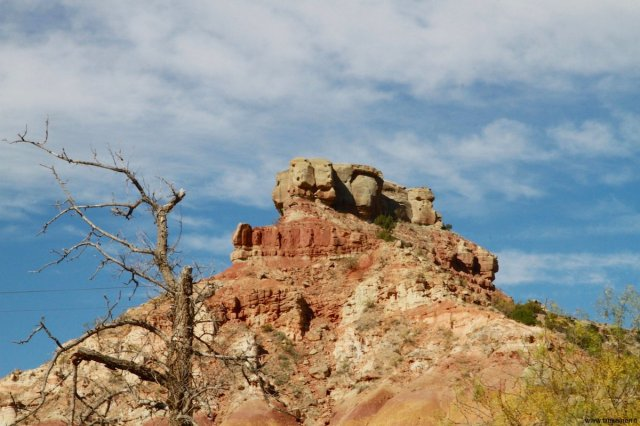 rock formations in palo duro canyon texas