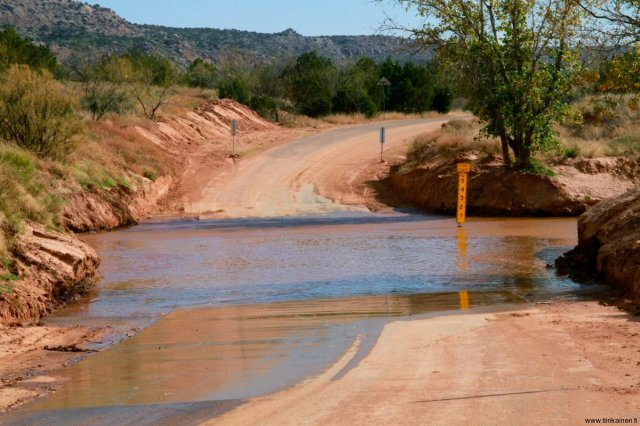 water crossing in palo duro canyon texas
