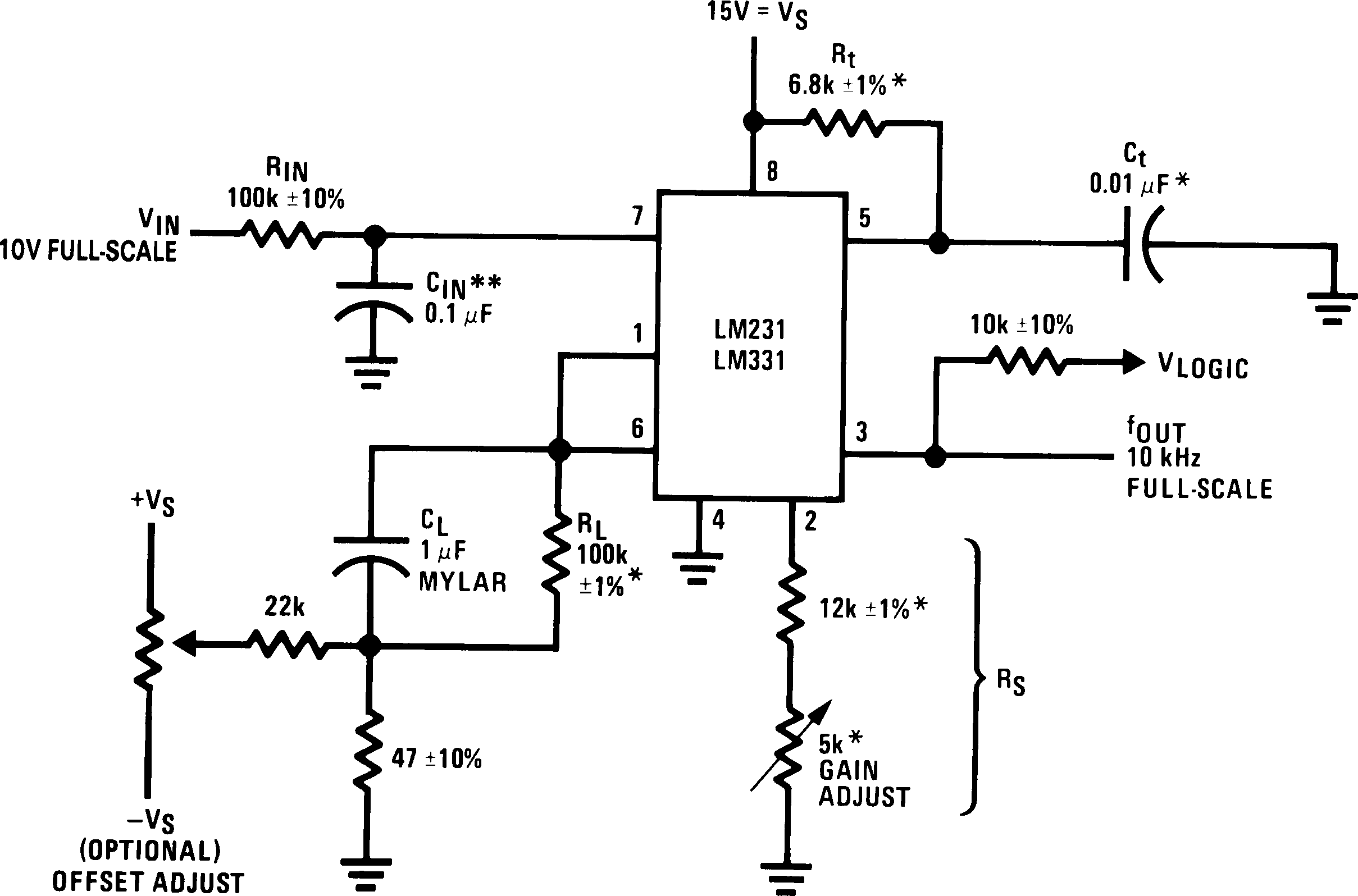 Lm231 Precision Voltage To Frequency Converter