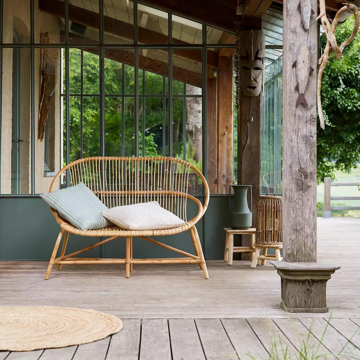 canape de jardin en rotin leontie