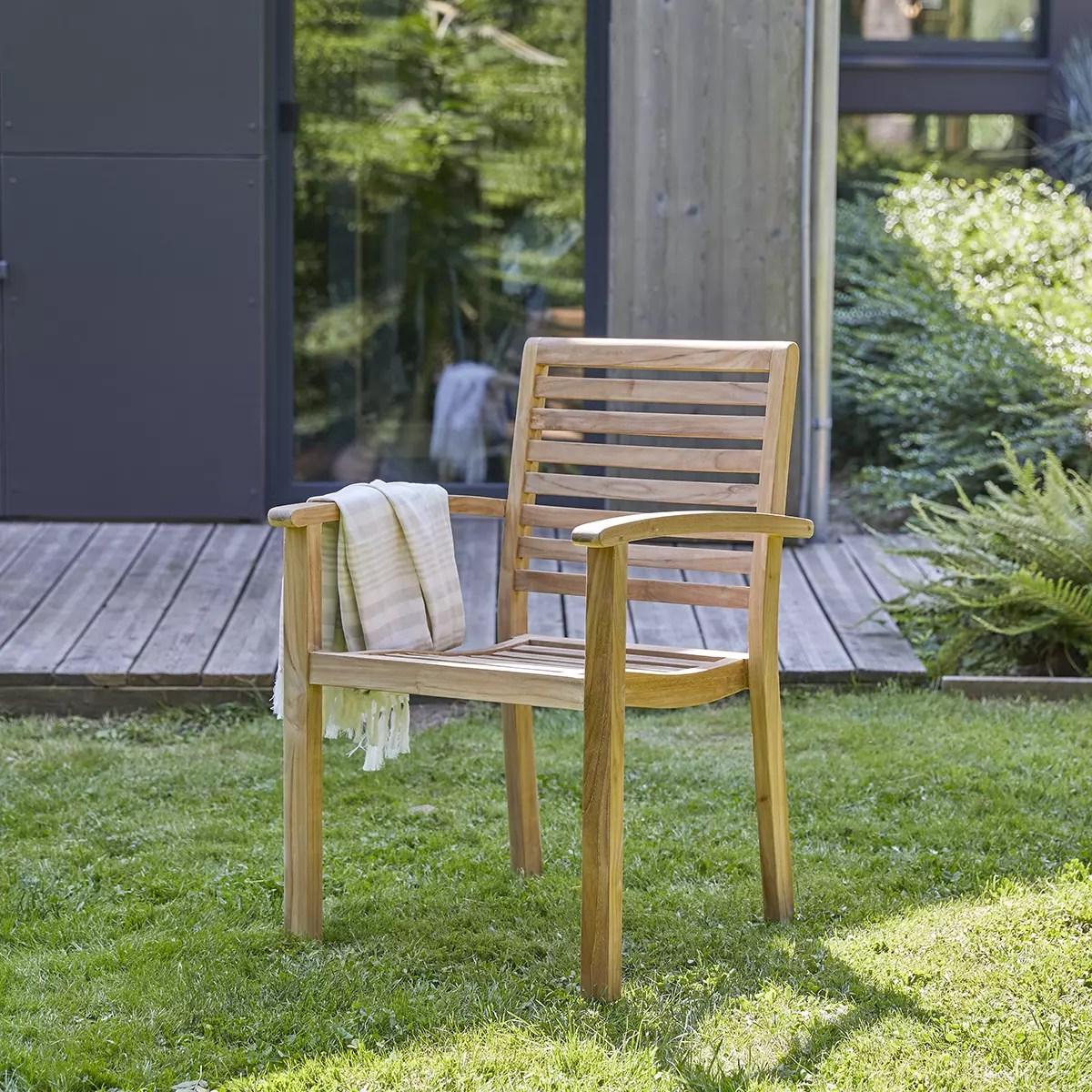 fauteuil de jardin en teck massif andria