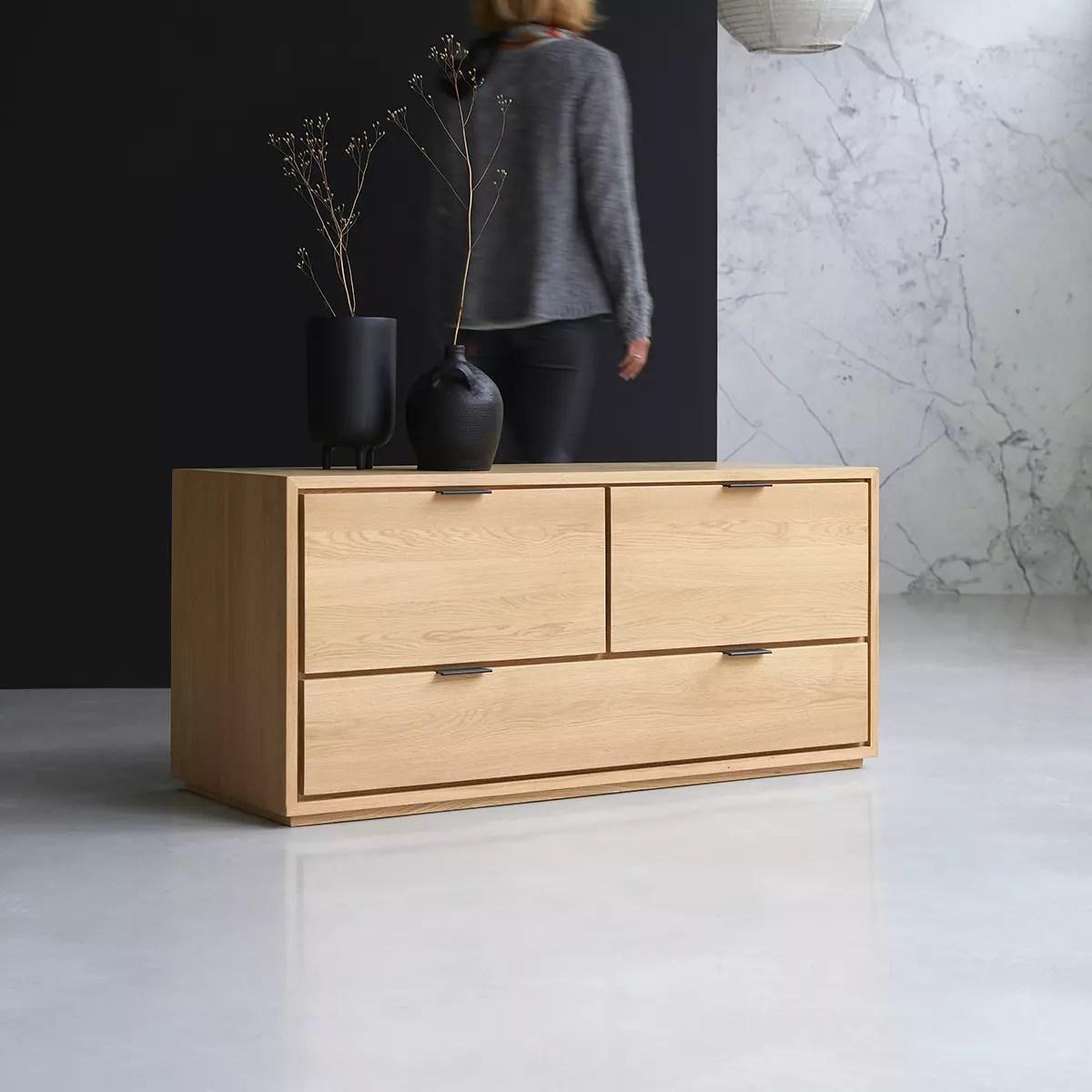 meuble tv en chene massif senson 120 cm
