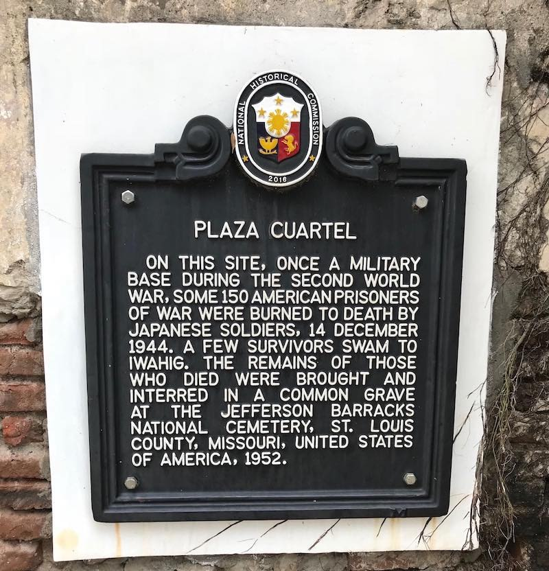 Plaza Cuartel Commemoration of the WW2 Palawan Massacre