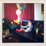 A boy and his balloons