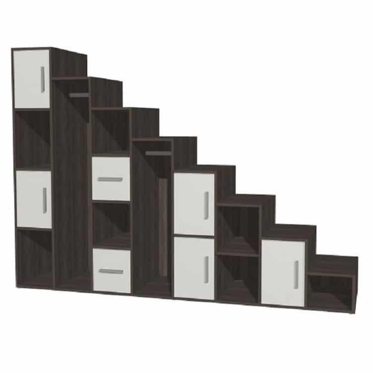 meuble de rangement sous escalier industriel