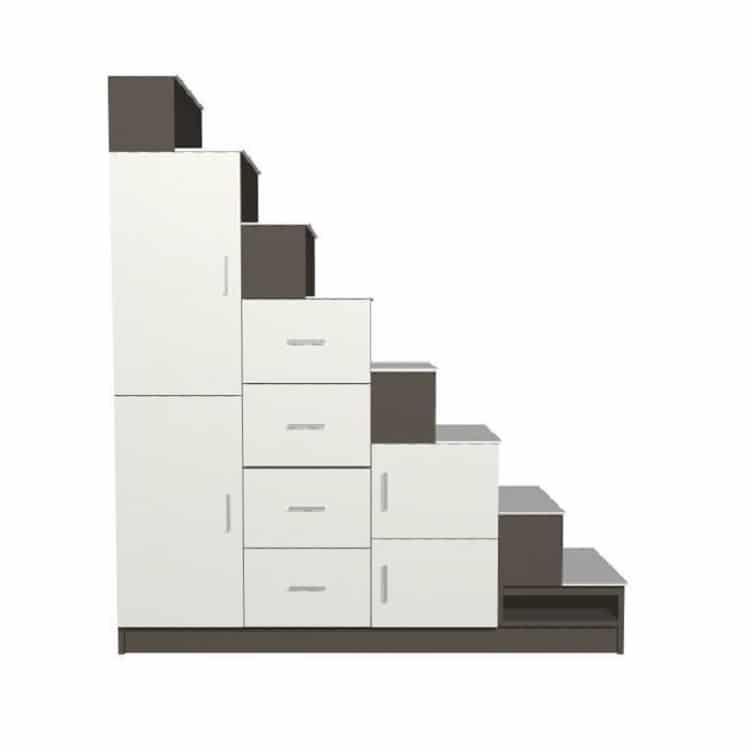 escalier caisson de rangement