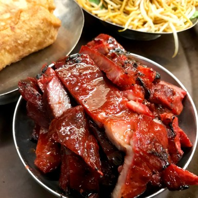 Egg Rolls, Boneless Ribs and Lo Mein