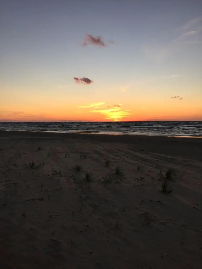 Vecaki beach sunset, not bad