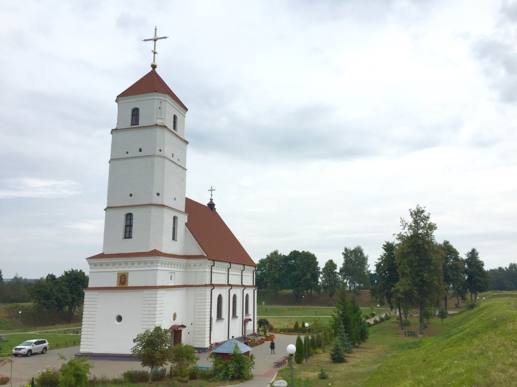 The lone church left in the original town a