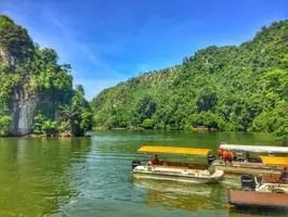 gunung lang lake boat in ipoh