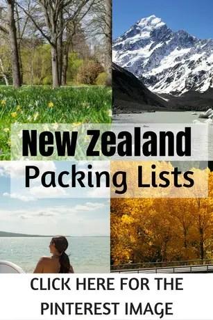 new zealand packing list pinterest