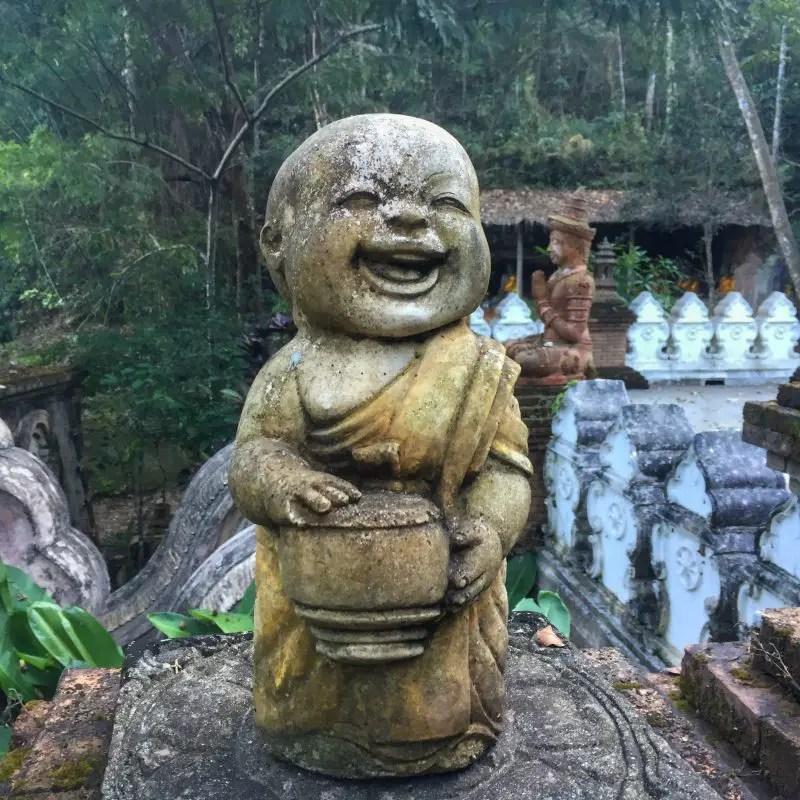 laughing monk chiang mai wat pha lat